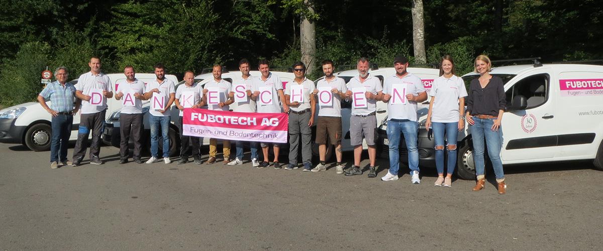 Fubotech Team Gruppenbild